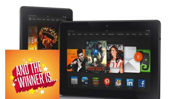 "Amazon Kindle Fire 7"" – We Have A Winner!"