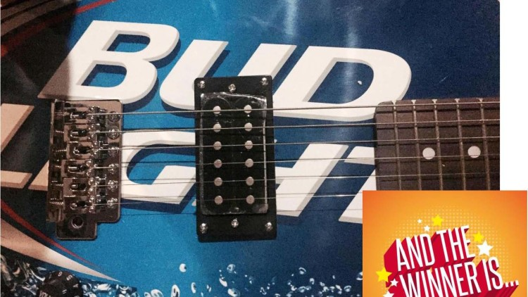 Bud Light Electric Guitar – July 26th Winner!